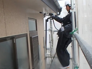 宮城県石巻市 外壁塗装 高圧洗浄