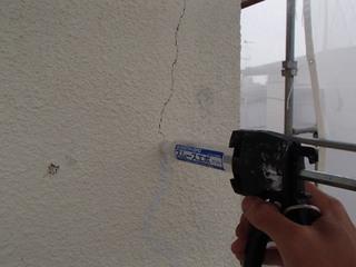 外壁塗装 クラック処理 ハンドスムーサー