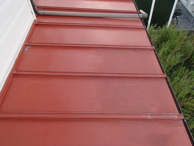 トタン屋根 藻 除去後