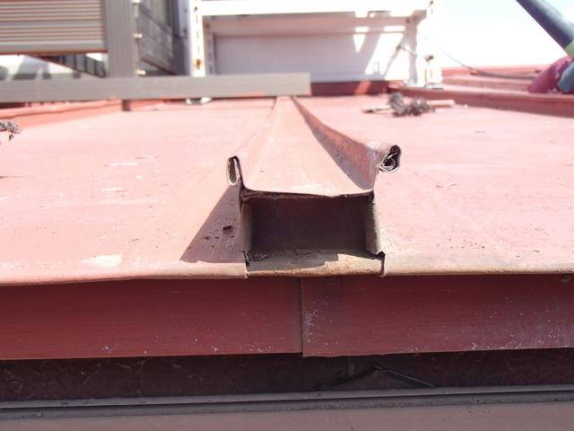 トタン屋根塗装 瓦棒 小口