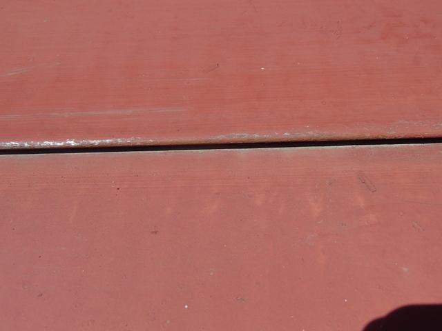 トタン屋根 横葺き 錆び