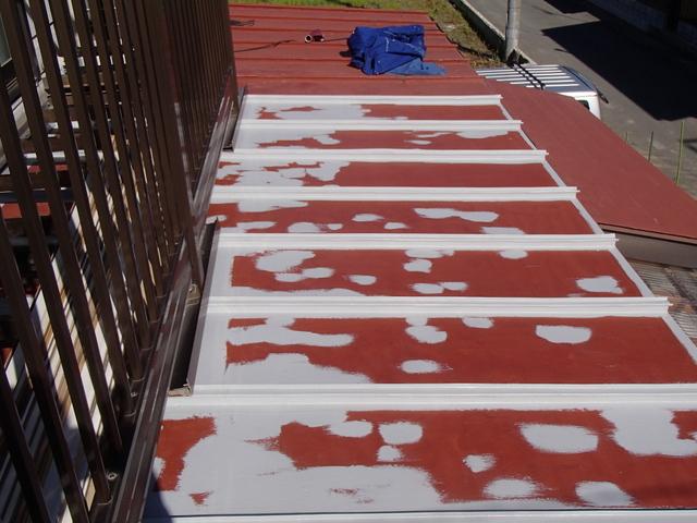トタン屋根 錆び止め 増し塗り