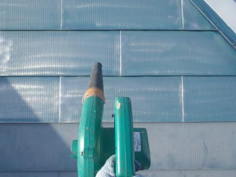 トタン屋根タ ケレン後 清掃