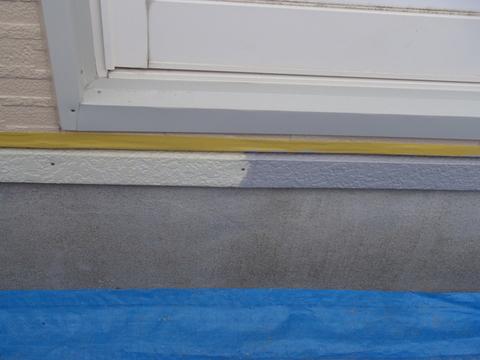 水切り塗装 錆び止め塗装中