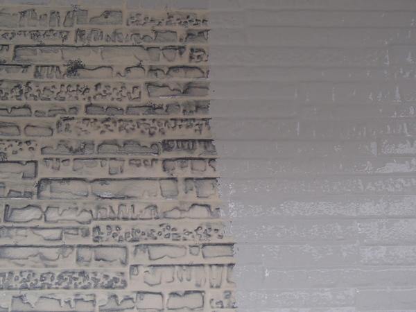 外壁塗装 金属サイディング 錆び止め塗装中 スーパーザウルス