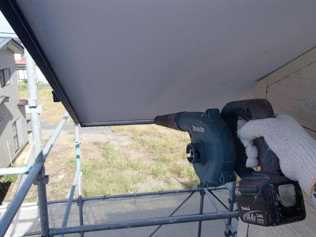 軒天塗装 ブロワー