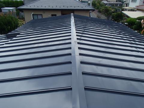 宮城県東松市 トタン屋根塗装 施工後