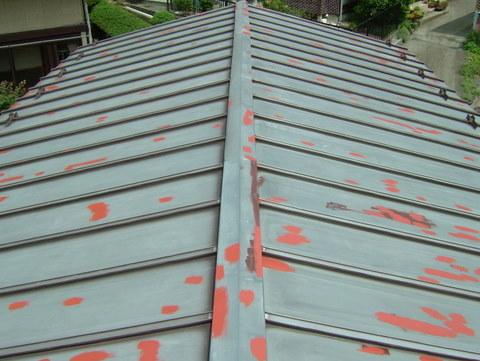 トタン屋根塗装 錆び止め 増し塗り