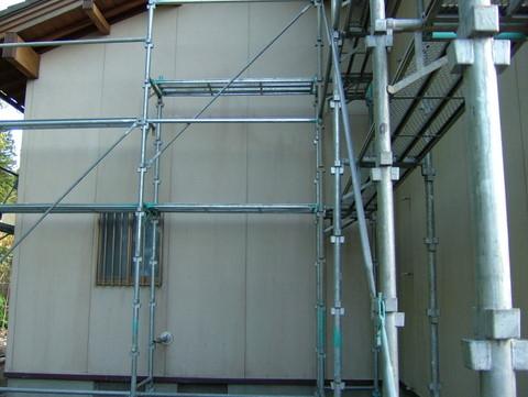 外壁塗装 水洗い カビ殺菌後
