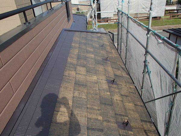 屋根塗装 上塗り1回目 コロニアル