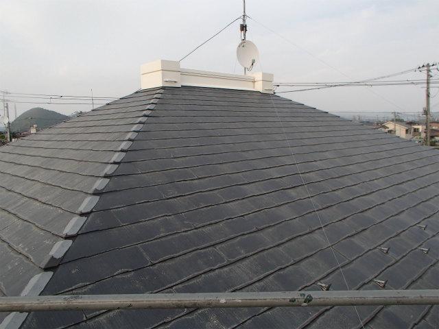 屋根塗装 カラーベスト 洗浄後