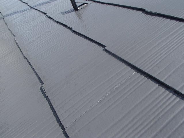 屋根塗装 コロニアル 上塗り2回目