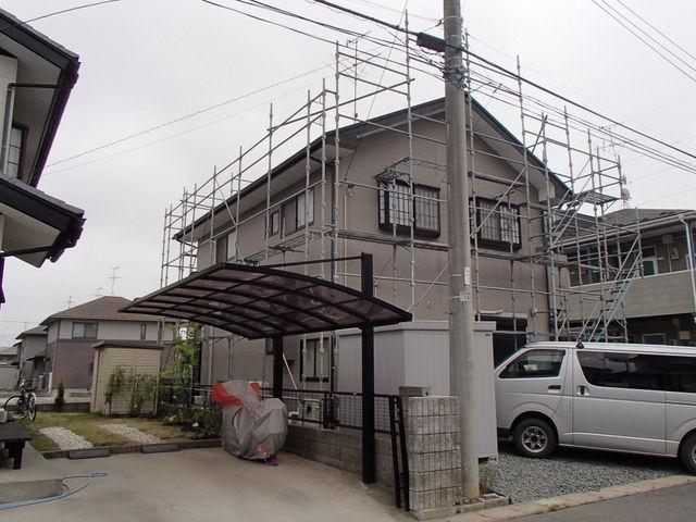 足場設置 屋根塗装 外壁塗装