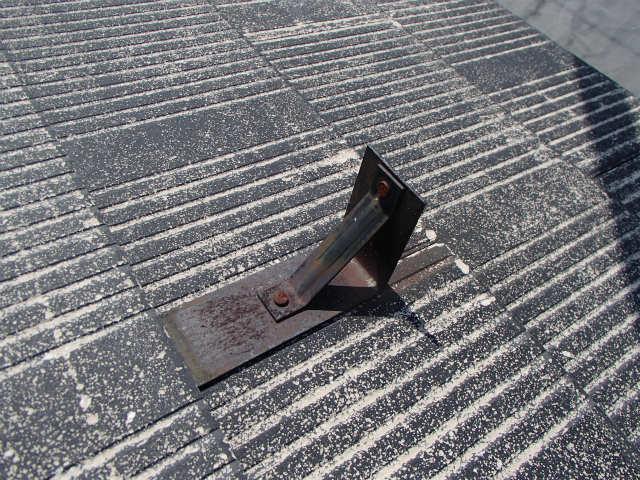 屋根塗装 コロニアル 雪止め ケレン前
