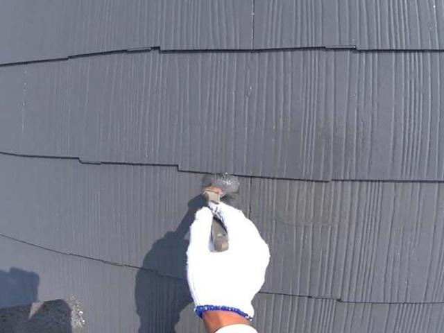 屋根塗装 コロニアル 刷毛