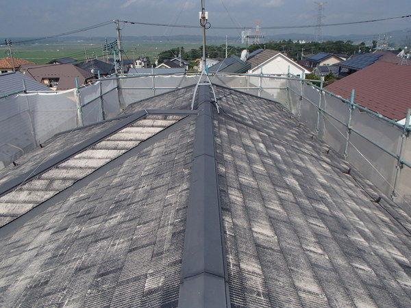 カラーベスト 屋根塗装 水洗い後