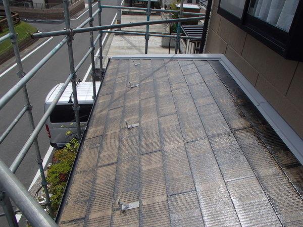 屋根塗装 下塗り2回目 吸い込み