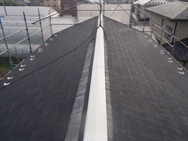 屋根塗装 棟包み 錆び止め塗装