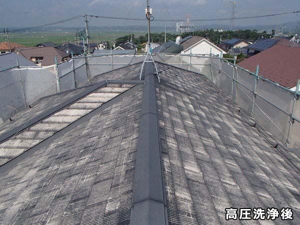 屋根塗装 カラーベスト 高圧洗浄後