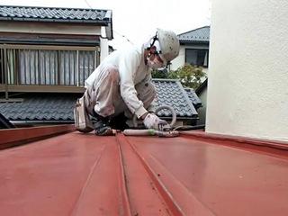 トタン屋根塗装 宮城県石巻市 ケレン作業