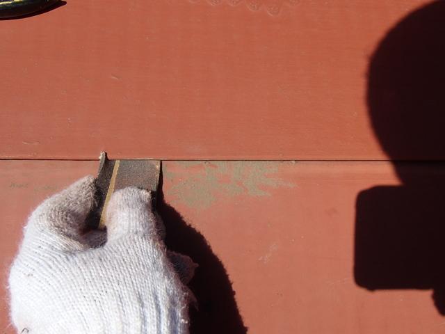 トタン屋根塗装 ハゼ ケレン