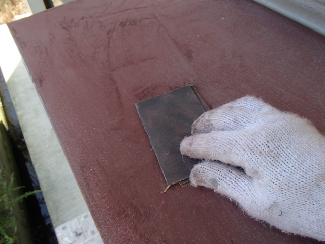 トタン屋根 霧除け 下地処理