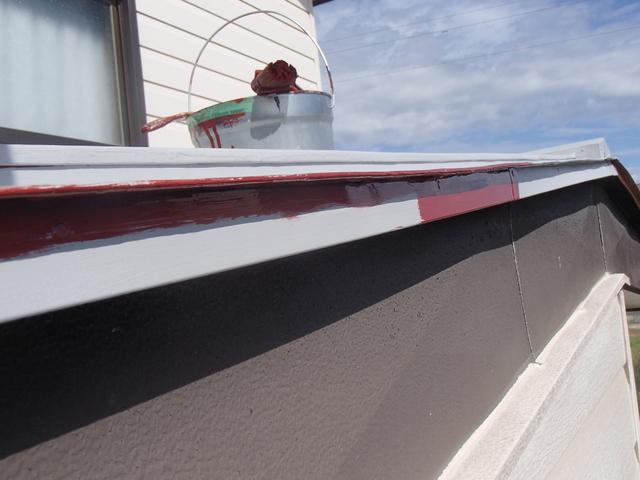 トタン屋根塗装 唐草
