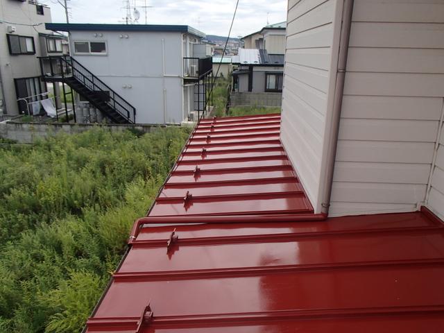 トタン屋根塗装 上塗り2回目完了