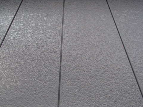 外壁塗装 金属サイディング 弱溶剤2液形アクリルシリコン樹脂塗料 約2年後