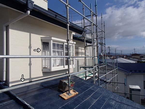 金属サイディング 外壁塗装 シリコーンシーラント 処理前