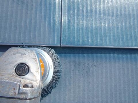 宮城県石巻市 トタン屋根塗装 ケレン エヌグリット