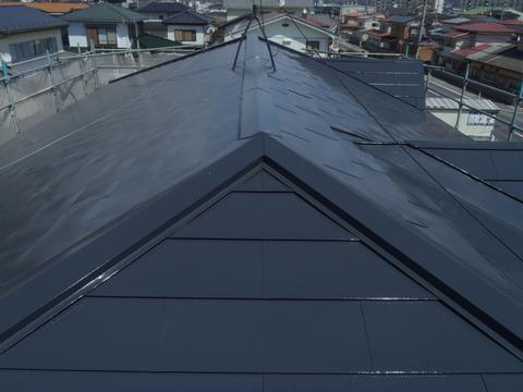 宮城県石巻市 トタン屋根塗装 施工後