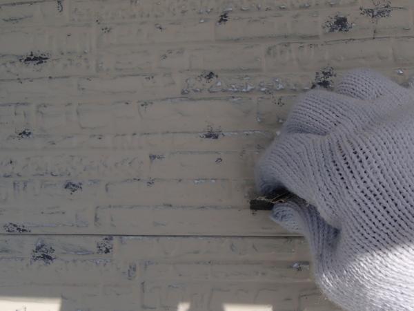 外壁塗装 金属サイディング 手ケレン ペーパー
