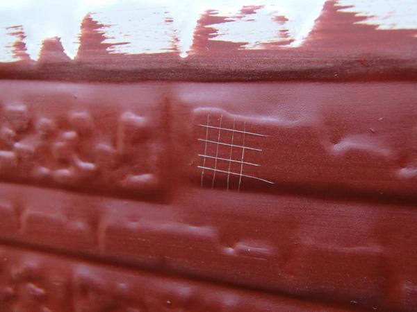 外壁塗装 金属サイディング 付着性テスト