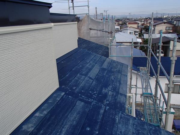 トタン屋根塗装 ケレン後
