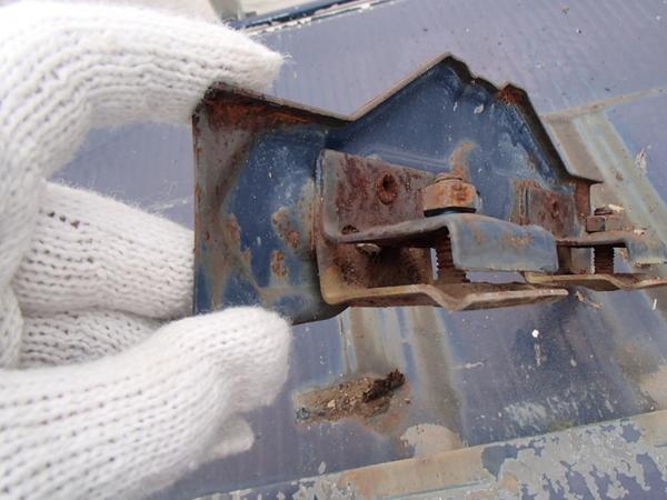 トタン屋根塗装 雪止め サビ