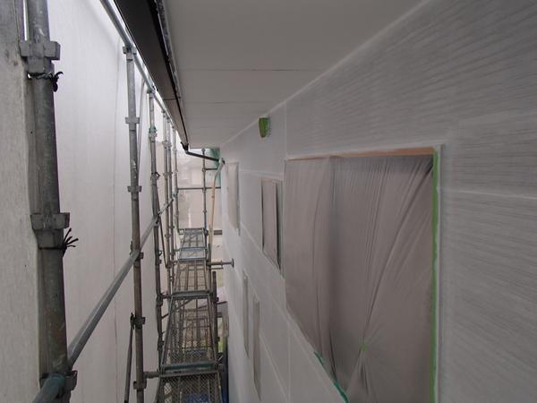 外壁塗装 下塗り完了