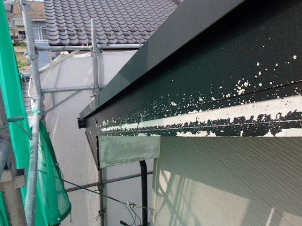 外壁塗装 破風板 水洗い後