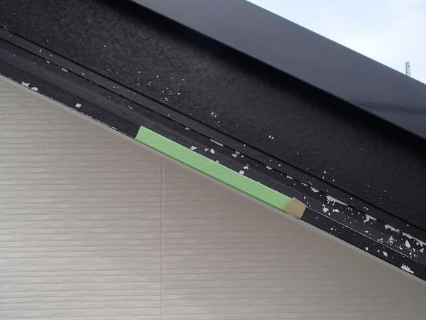 外壁塗装 破風板 付着性テスト前