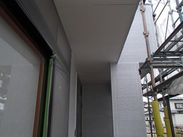 軒天塗装 上塗り2回塗り完了