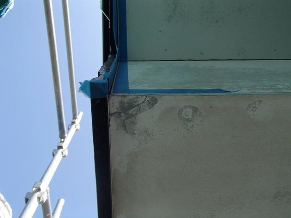 軒天塗装 欠け 補修