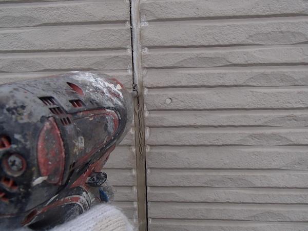 外壁塗装 シーリング/コーキング 撤去中