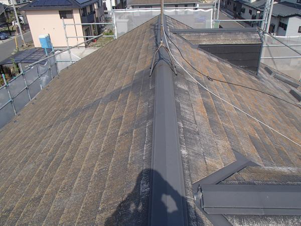 屋根塗装 宮城県石巻市 施工前 カラーベスト