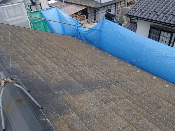 屋根塗装 宮城県石巻市 シート 養生