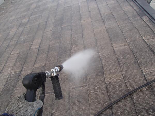 屋根塗装 高圧洗浄 すすぎ洗い