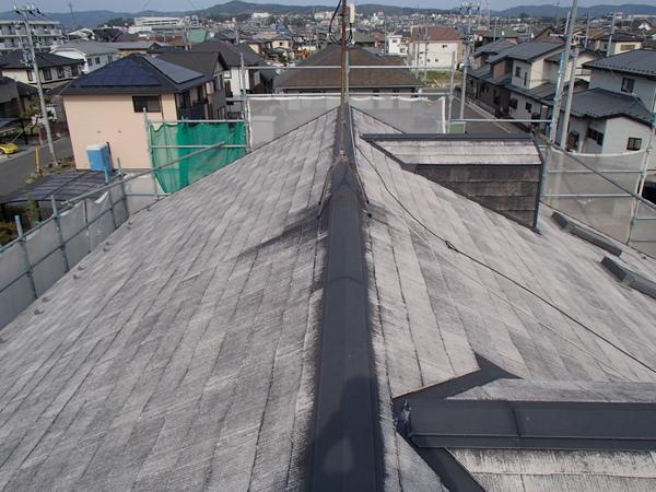 屋根塗装 カラーベスト 洗浄後 宮城県石巻市