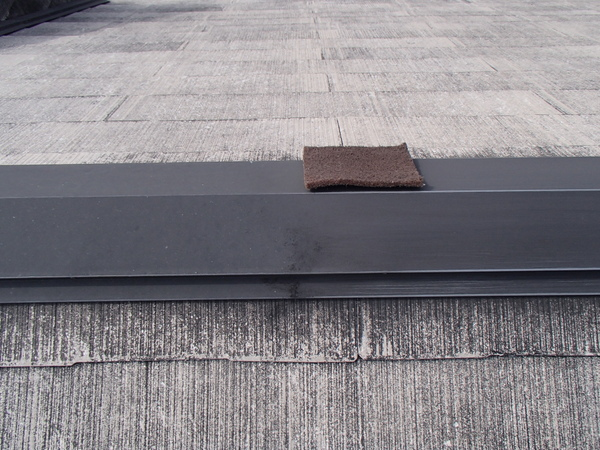 屋根塗装 棟包み ケレン 下地処理