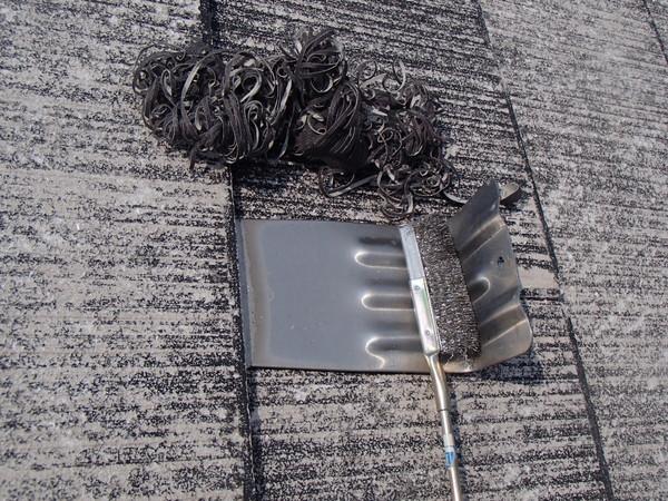 屋根塗装 雪止め ケレン 下地処理