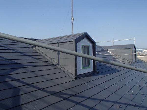 屋根塗装 上塗り2回目 スレート