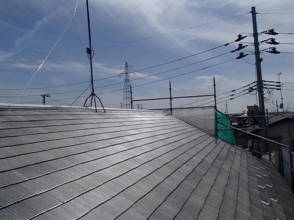 屋根塗装 下塗り3回目